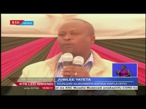 Viongozo wa Jubilee wakashifu uamuzi wa CORD wa kuandaa mkutano siku ya Madaraka