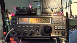 Great reception from the BBC on the Icom with my new 100 feet wire antenna December 10th 2015 at 1845 UT.