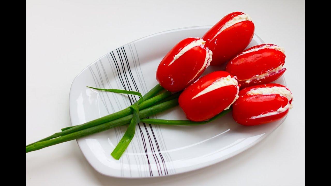 TOMATO FLOWERS ♥ Tulipani con pomodori e asparagi ♥ VIDEORICETTA