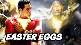 Shazam Justice League Black Adam Easter Eggs and Post Credit Scene Breakdown