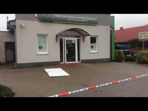 Wideo1: Wysadzony bankomat w Krzycku Wielkim