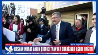 Başkan Murat Aydın Çırpıcı Tranvay Durağında Aşure Dağıttı