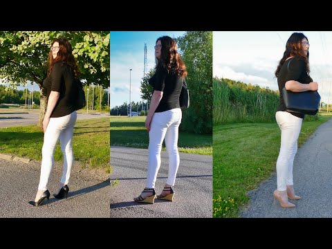 Jenny Crossdresser - 4 different high heels