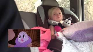 Young Girl Getting Emotional Watching A Cartoon
