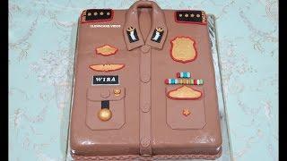 KUE BESAR 50CM! CARA MEMBUAT KUE ULANG TAHUN BAJU POLISI - HOW TO MAKE BIRTHDAY CAKE Video