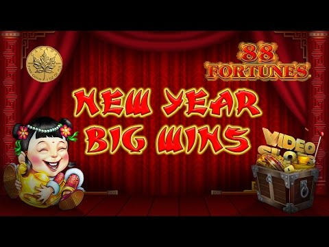 $$ Huge Win $$ JACKPOT $$ – 88 fortunes – Slot Machine Bonus