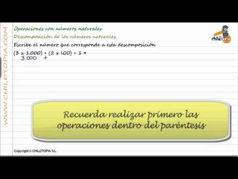 Vídeos Educativos.,Vídeos:Descomponer números naturales 5