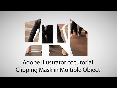 Adobe Illustrator Cc Tutorial - Clipping Mask In Multiple Object