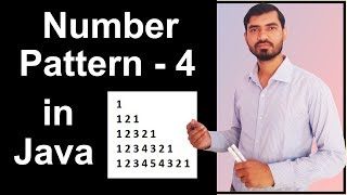Number Pattern - 4 Program (Logic) in Java by Deepak