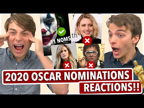 2020 Oscar Nominations REACTIONS!! (We FREAK out)