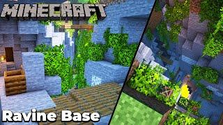 Minecraft 1.15 Ultimate Ravine Survival Base [Timelapse]