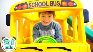 Video Assembling video Compilation by Xavi - Yaya School Bus Slide, Playhouse, Tayo Bus, Excavator ride on MP3, 3GP, MP4, WEBM, AVI, FLV Agustus 2018