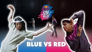 Angyil vs Salah : Blue vs Red – Red Bull Dance Your Style