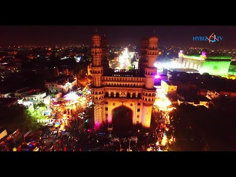 Charminar Night Visuals on Eid al-Fitr 2017
