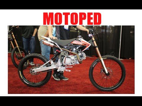 Motoped downhill mountain bike / mopeds :SEMA Las Vegas (видео)