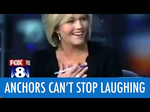 Anchor Cracks Up At Fart Story