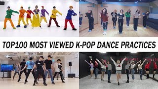 Video [TOP 100] MOST VIEWED K-POP DANCE PRACTICES •  March 2018 MP3, 3GP, MP4, WEBM, AVI, FLV Agustus 2018
