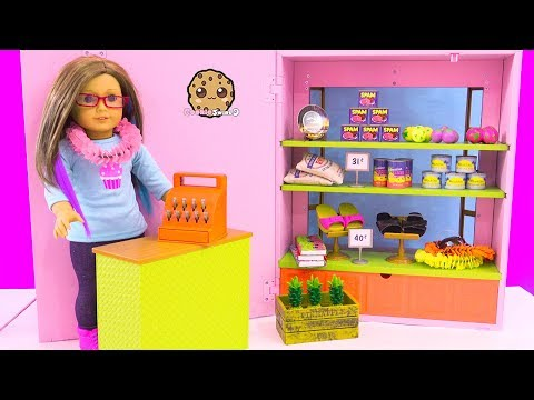 American Girl Hawaiian Store Market - Doll Shopping Toy Video Cookie Swirl