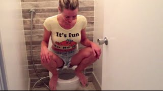 How & why I squat on the toilet to poop (live demo)
