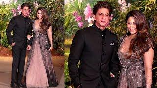 Video Shahrukh Khan's GRAND ENTRY With Wife Gauri Khan At Sonam Kapoor & Anand Ahuja's Wedding Reception MP3, 3GP, MP4, WEBM, AVI, FLV Oktober 2018