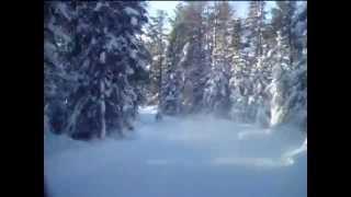 10. Arctic Cat Z1 Turbo and Ski-Doo MX Z trail riding near Lutsen, MN
