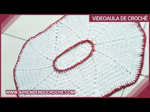 Tapete de Croche Oval com Barbante - 1º Parte