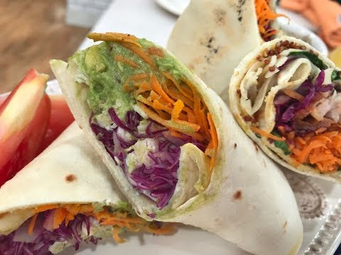 Wraps Saludable De Pollo Y Vegetales Mixtos