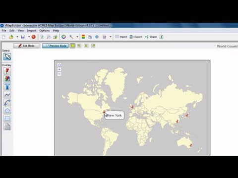 Create interactive map using iMapBuilder HTML5