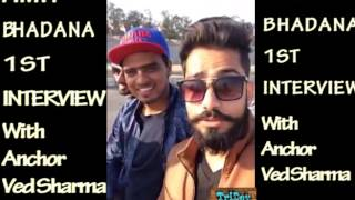 Amit Bhadana 1st interview with Anchor ved sharma