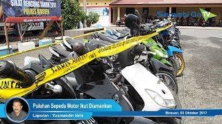 Berikut Tersangka dan Barang Bukti Sepeda Motor Curian di Bireuen
