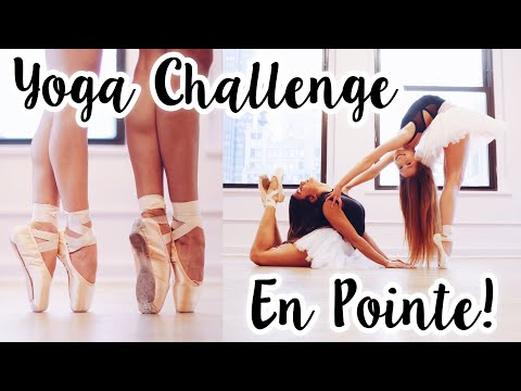 Extreme Yoga Challenge in Pointe Shoes!