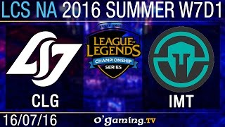 Immortals vs CLG - LCS NA Summer Split 2016 - W7D1