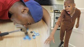ANGRY BROTHER SMASHES $100 FIDGET SPINNER (REVENGE PRANK)