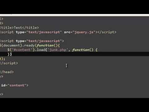 Learn JQuery Tutorial 9 | AJAX Load