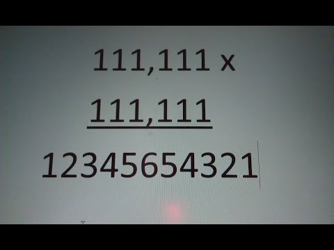 How to Multiply 111111 by 111111 without a Calculator - Step by Step Instructions