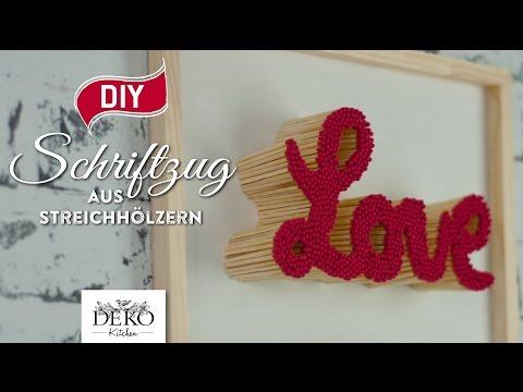 DIY: Valentinstag-Geschenk - Schriftzug aus Streich ...