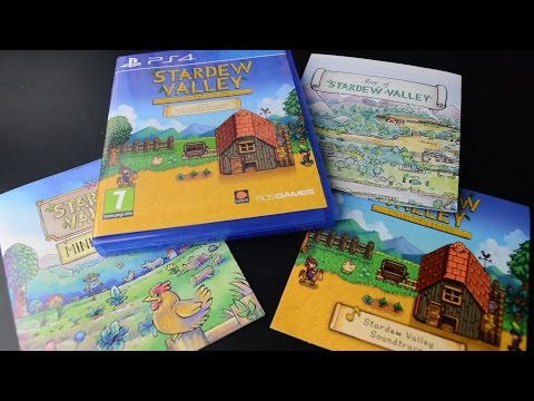 jeu ps4 stardew valley collector's edition + mini guide plan ville pelican