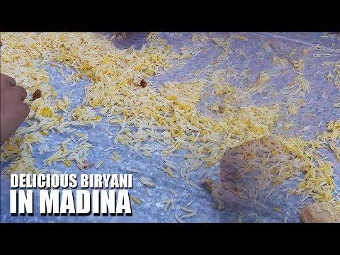DELICIOUS BIRYANI IN MADINA | EATING OFF THE FLOOR