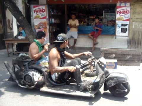 piaggio vespa sidecar - indonesian bike