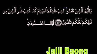 Muammar za Al Baqarah 183 184