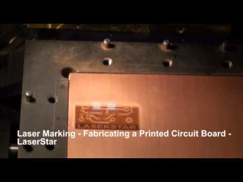 <h3>Laser Marking - Printed Circuit Board (PCB) Fabrication </h3>This laser marking video shows the fabrication of a Printed Circuit Board (PCB). LaserStar's 20 Watt fiber laser marking system was used for this laser marking application.<br><br>