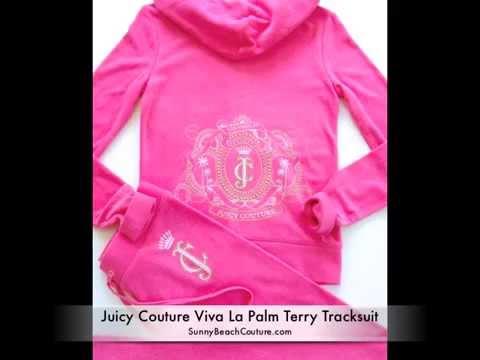Juicy Couture Tracksuit Viva La Palm Terry Hoodie Pants