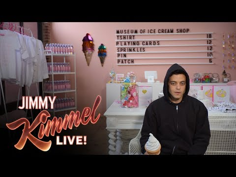 Mr. Robot's Rami Malek Visits the Museum of Ice Cream