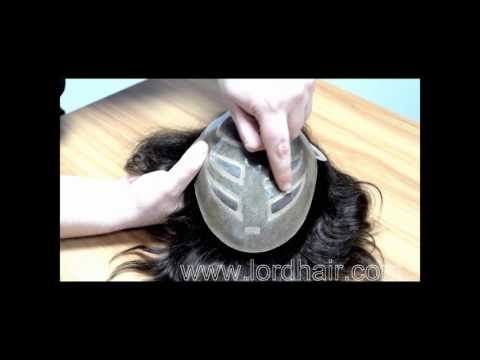 Mono+Skin+Lace Front Hair Replacement System Immediate Shipment from Lordhair