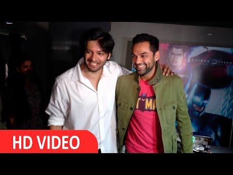 Abhay Deol & Ali Fazal At Special Screening Of Batman V Superman