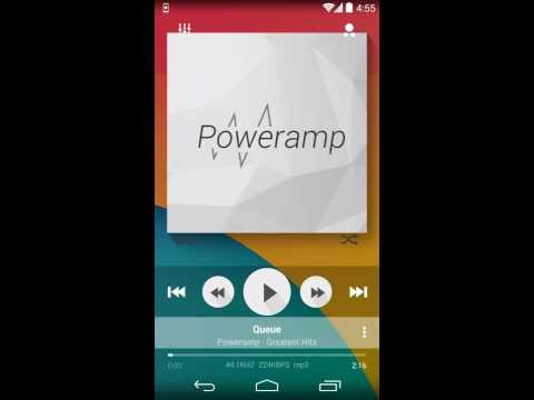 Video of Poweramp skin Flat Transparent