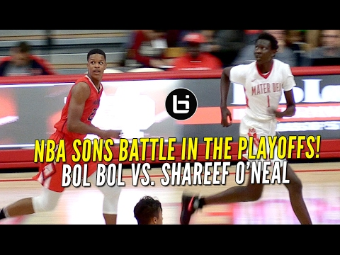 Bol Bol Vs Shareef O'Neal In First Round Playoff Game!