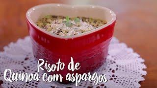 Experimente – Risoto de quinoa com aspargos
