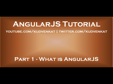 AngularJS tutorial –  What is AngularJS
