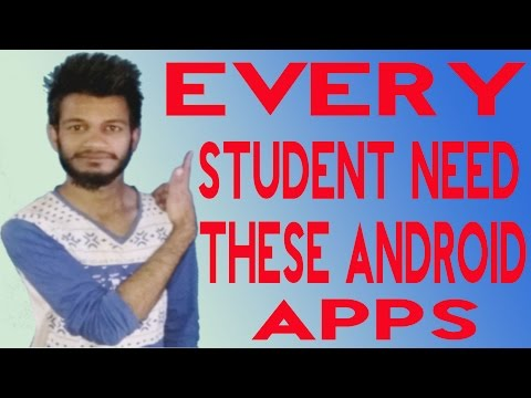 [Hindi] Top 5 Android Apps For Student in 2017 | Must For Every Collage Student